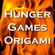 Hunger Games Origami - ideas for paper folding crafts on this theme.