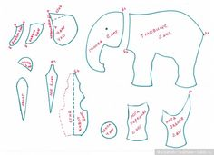 Выкройка винтажного слона / Выкройки игрушек / Бэйбики. Куклы фото. Одежда для кукол