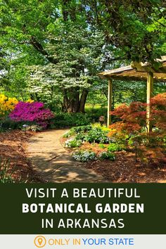 This beautiful botanical garden in Arkansas is a nature lover's dream come true. A local gem with unique plants and flowers, you'll also find a butterfly garden. This is the perfect destination for family fun or a day trip with friends. Butterfly House, Hidden Beach, Unique Plants, Science And Nature, Natural Wonders, Day Trip, Arkansas, Road Trips, Botanical Gardens