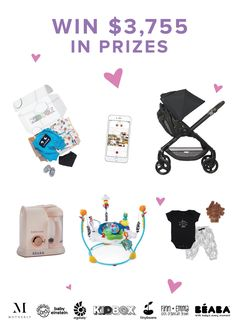 Enter the Littlest Love of Your Life Sweepstakes to win over $3,700 in prizes from much-loved brands like Baby Einstein, Ergobaby, Kidbox, Tinybeans, Finn Emma, and Beaba! If you refer friends you get more chances to win. :)  %{link}