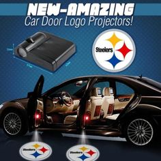 Make your car amazing with the NEW NFL logos! A wireless product specially designed for car modification, these LED projectors will not destroy your original Steelers Pics, Steelers Gear, Pittsburgh Steelers Football, Steelers Stuff, Steelers Jacket, Texans Football, Pittsburgh Pa, Denver Broncos, Football Season