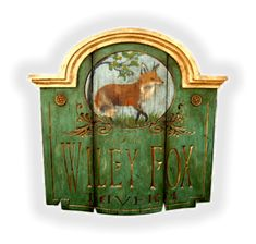Colonial and Early American Style Signs by Vintage Sign Art Primitive Homes, Primitive Antiques, Pub Signs, Shop Signs, Antique Signs, Vintage Signs, Fox Decor, Art Populaire, Equestrian Decor