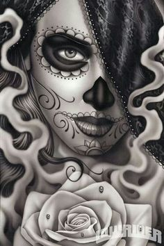 Day of the Dead, Dia del los Muertos - via Low Rider magazine