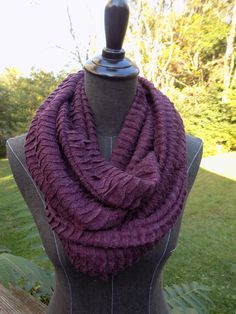 Plum Waves Infinity Scarf - pinned by pin4etsy.com
