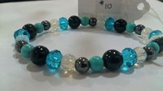 Healing Bracelet of Agate, Turquoise, Opalite & Hematite