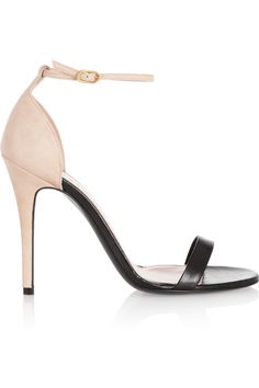 Alexander McQueen Leather and suede sandals NET-A-PORTER.COM