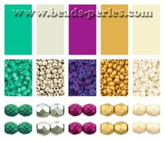 Combinaciones de color: Paleta 6 - Beads Perles Boutique