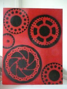 gears as stencils