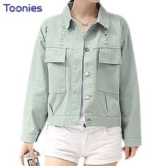 >> Click to Buy << Women Jeans Jeackets 2017 New Spring Autumn New Boyfriend Style Loose Long Sleeved Denim Short Coat Casual Short Jeans-jackets #Affiliate