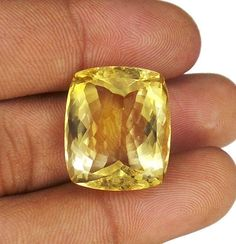 29.70 Ct 100% Natural Certified Cushion Cut Yellow Ebay Citrine Gem_For Pendant #GemsIndiaTopRatedPowerSeller5RatingeBay