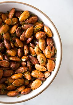 Herb roasted almonds.