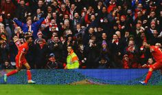 Sterling scores in rampaging first half by LFC. HT 4-0!