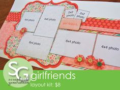 scrapbook generation: Eight new layout kits, all $10 or less!