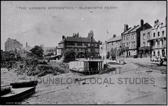 "century Thames-side inn ""The London Apprentice"" photographed from the draw dock of Isleworth Ferry, Richmond Upon Thames, Brentford, Vintage London, Local History, West London, Old Photos, 18th Century, Illusions, Past"