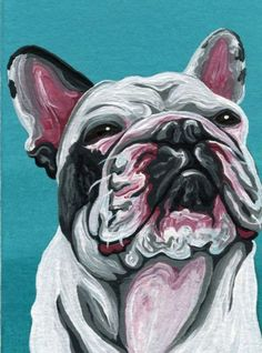 Buy ACEO ATC Original Painting French Bulldog Pet Dog Art-Carla Smale, Gouache painting by carla smale on Artfinder. Discover thousands of other original paintings, prints, sculptures and photography from independent artists.