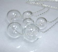 MORE BUBBLES   Glass  Round  Clear  Double Row  Silver  Light As by TheEboutique, $32.00