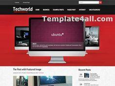 Free Wordpress Themes Templates - Tech Wordpress Theme Design #wordpress #technology #design