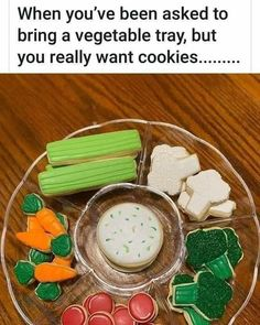 Make Em Laugh, Candy Cookies, Tray, Bring It On, Diet, Vegetables, Breakfast, Ethnic Recipes, Food