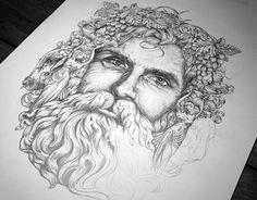 'Bacchus' - Composition Sketch V1