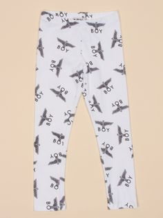 Kids All Over Eagle Legging in White by Boy London - ShopKitson.com