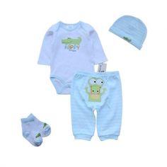 Green Crocodille Set Baby Bodysuit