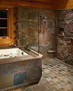 another stone shower ( def want a diff wall for the shower area though)