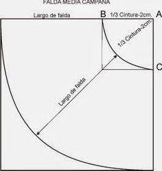 Para poder desarrollar el trazo básico de falda  tenemos que tener un cuadro de medidas de Tallaje Industrial   CUADRO DE MEDIDAS:         ...