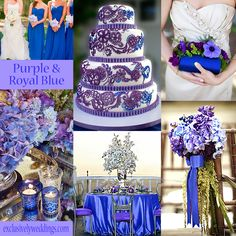 Purple and Royal Blue Wedding Colors | blog.exclusivelyweddings.com