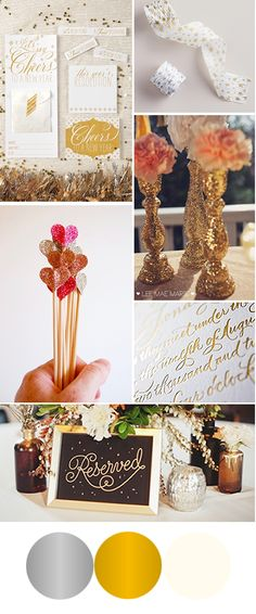 inspiration to invitation: Christina and Greg's silver and gold inspriation