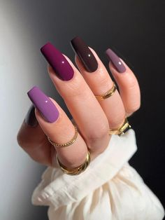 Edgy Nails, Stylish Nails, Gold Nails, Trendy Nails, Grunge Nails, Acrylic Nails Coffin Short, Best Acrylic Nails, Best Nails, Simple Acrylic Nails