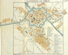 Plattegrond van Zwolle   Mijn Stad Mijn Dorp