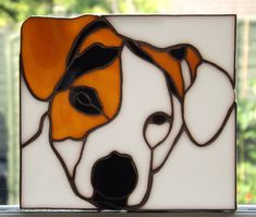 Stained glass Jack Russell, my second attempt at this sort of work. Found this one very difficult.