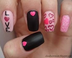#uñas #corazones