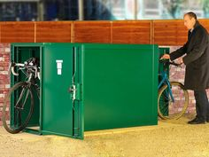 Metal bike locker | double ended metal cycle locker | Asgard