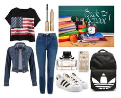 """BACK TO SCHOOL!"" by majda1003 ❤ liked on Polyvore featuring Topshop, Chicnova Fashion, adidas Originals, maurices, adidas, Casetify, Gucci and Stila"