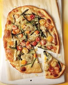Spring Vegetable Pizzas
