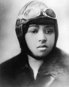 """Never the less, she persisted- Elizabeth Coleman, aka 'Bessie', was the world's first black female pilot. #blackhistorymonth #letlizspeak"""