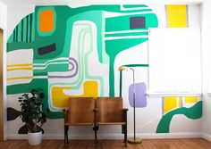 Here are some photos that will convince you to create a mural in your living room to make a drastic and beautiful change.