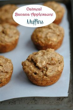 These oatmeal banana applesauce muffins are SUPER healthy for kids to eat, either for breakfast or tucked into their lunchbox for a mid morning snack. Lots of great ingredients means no guilt, and you can whip up a batch of 12 muffins in no time at all.