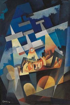 Bombardamento notturno, 1931, by Tullio Crali.