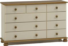 Steens Richmond Cream & Pine Extra Large 2+3+4 Drawer Chest of Drawers