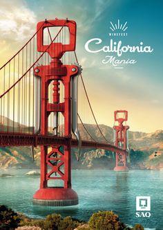 SAQ - California Mania - Print - Affichage by Claude Ringuette, via Behance