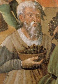 Sommer:September - Bauer mit Trauben im August (farmer with grapes in August)