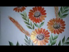 """Please watch: """"one stroke painting for beginners.How to paint daisy with filbert brush . painting techniques."""" embroidery designs. Embroidery stitches tutorial. Flower stitch.facebook: ..."""