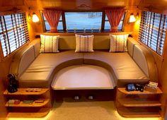 Marvelous RV Bedroom Makeover Ideas - Page 43 of 43 Bedroom Setup, Bedroom Decor, Enjoy Summer, Remodeled Campers, Bed Design, Bunk Beds, Building A House, Rv, Outdoor Decor