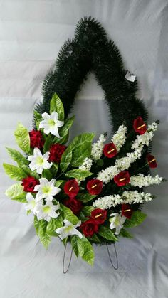 "КУП ""Брестское спецпредприятие "" Funeral Flower Arrangements, Funeral Flowers, Floral Arrangements, Wedding Flowers, Wreath Crafts, Balloon Decorations, Grapevine Wreath, Grape Vines, Christmas Wreaths"