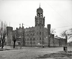 "Cleveland, Ohio, circa 1901. ""Armory of the Ohio National Guard."""