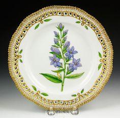 flora danica plates   1042: Flora Danica Dinner Plate : Lot 1042