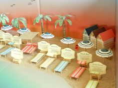 "3d table plan, modello ""Spiagge del mondo"", scenario"
