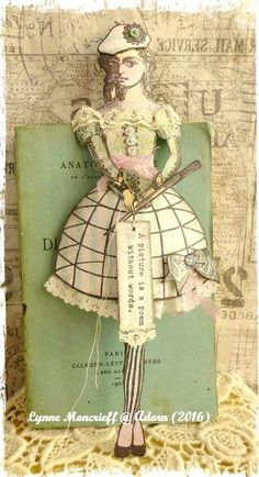 The Artist by Lynne Moncrieff working with stamps from Character Constructions Paris Flea collection.
